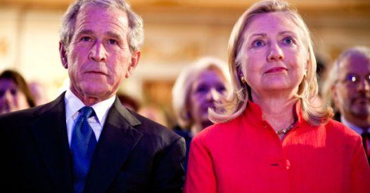 Hilary Clinton e G.W Bush contestati come criminali di guerra. Tace il mainstream
